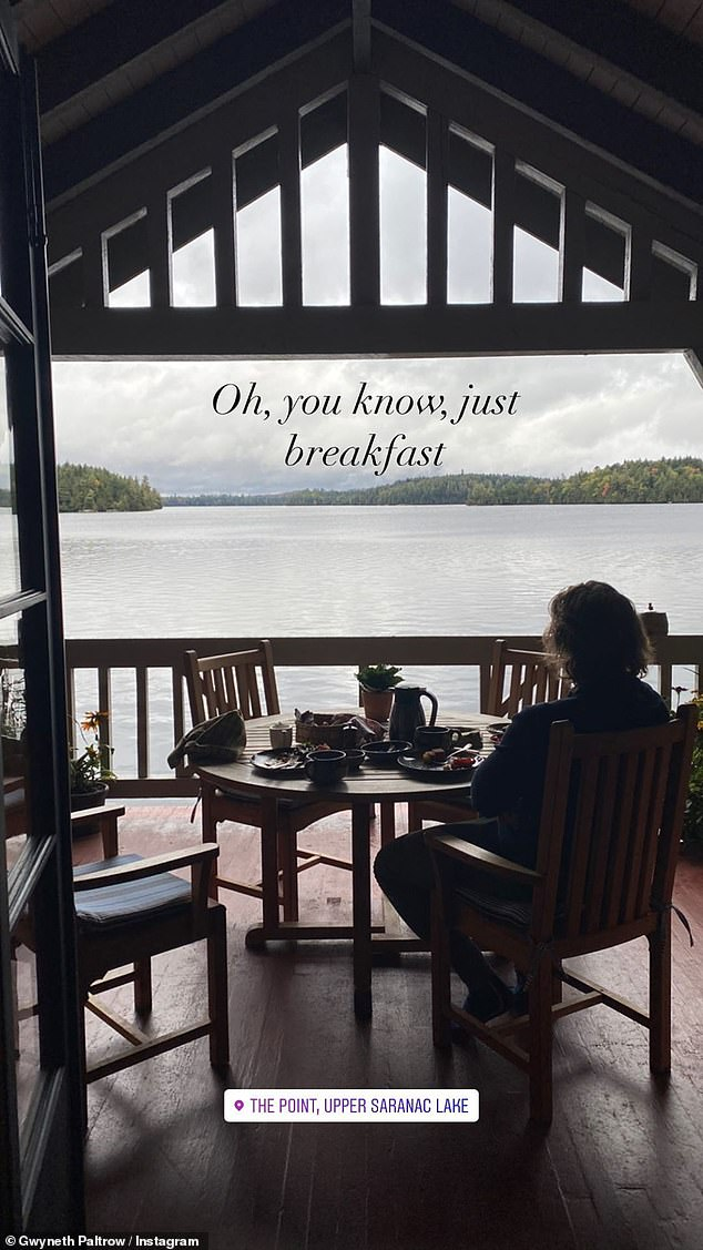 Gwyneth Paltrow shares her gorgeous breakfast view of a lake in Upstate New York 18