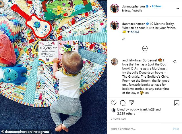 Notoriously private Daniel MacPherson and Zoe Ventura share rare photos of their son 9