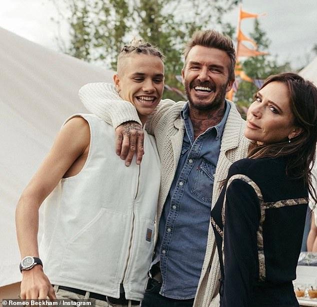 Romeo Beckham poses in photo with dad David and mum Victoria 5