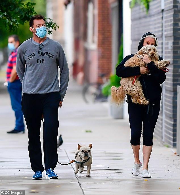 Hugh Jackman and wife Deborra-Lee Furness cut casual figures on a stroll in New York 3