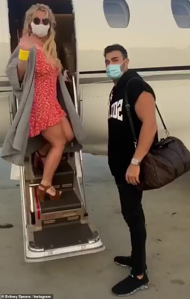 Britney Spears and Sam Asghari post videos hopping aboard private plane for mystery trip 3