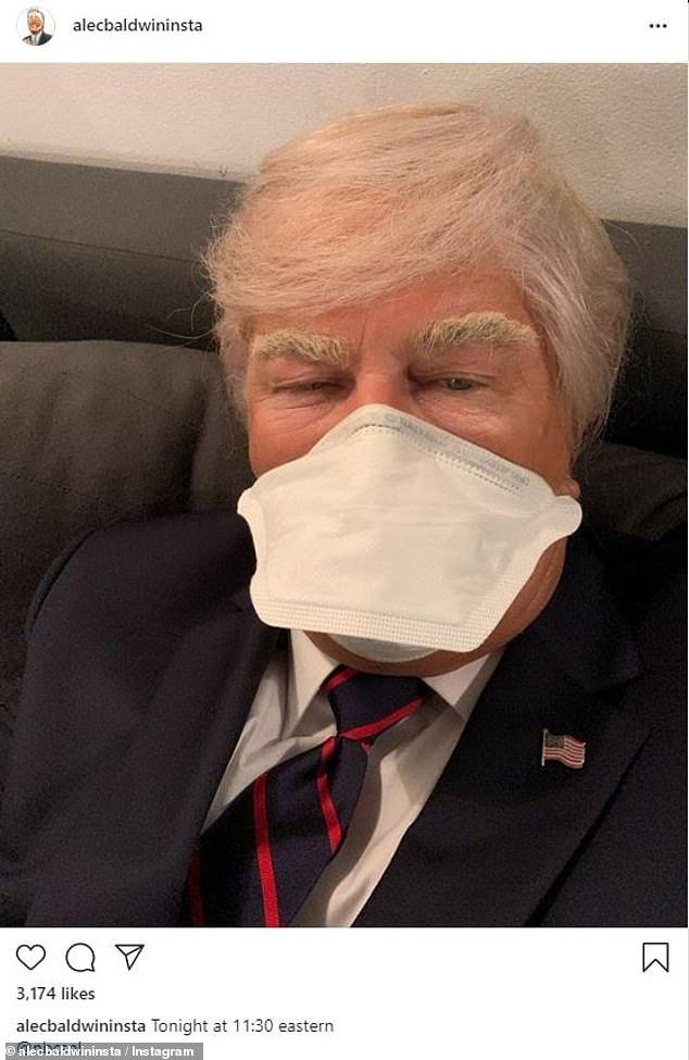 Alec Baldwin tweets masked selfie as Donald Trump ahead of Saturday Night Live season premiere 3