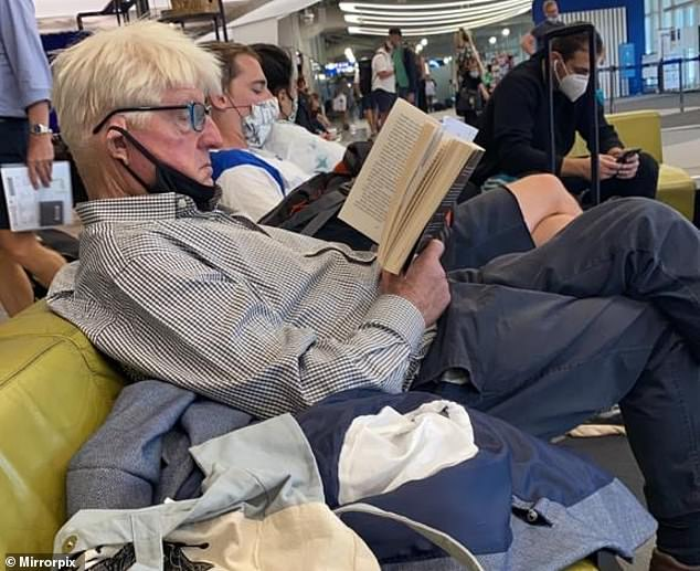 Boris Johnson's father Stanley is caught flouting Covid mask rules for the SECOND time in a week 1