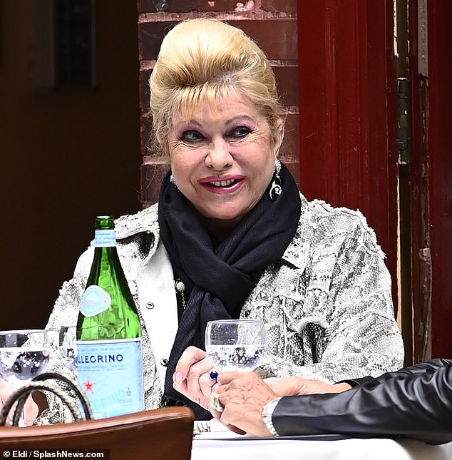Ivana Trump goes out for alfresco lunch after discussing Donald's COVID-19 battle 3
