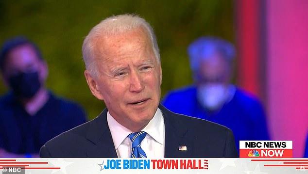 Joe Biden slams 'macho' refusal to wear masks as Donald Trump rips his off 3