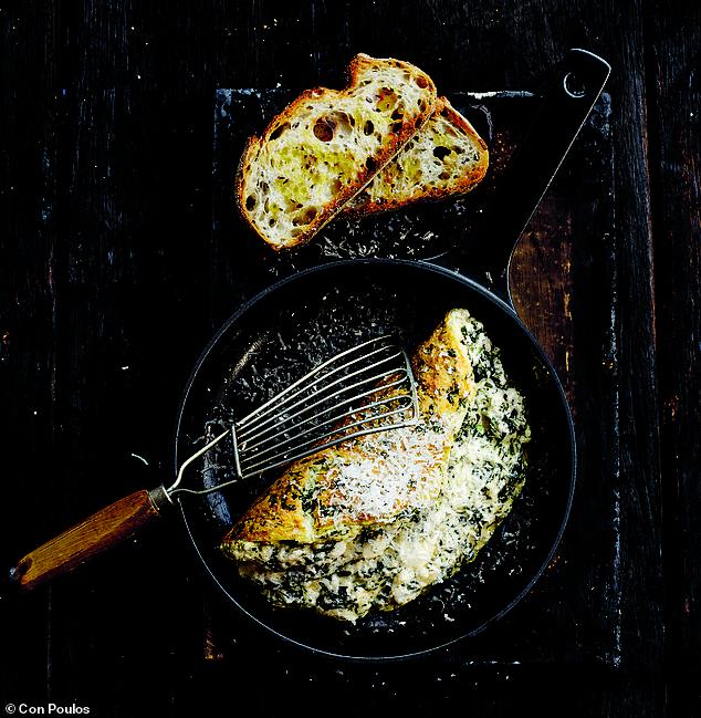 Hay presto!: Spinach souffle omelette 3