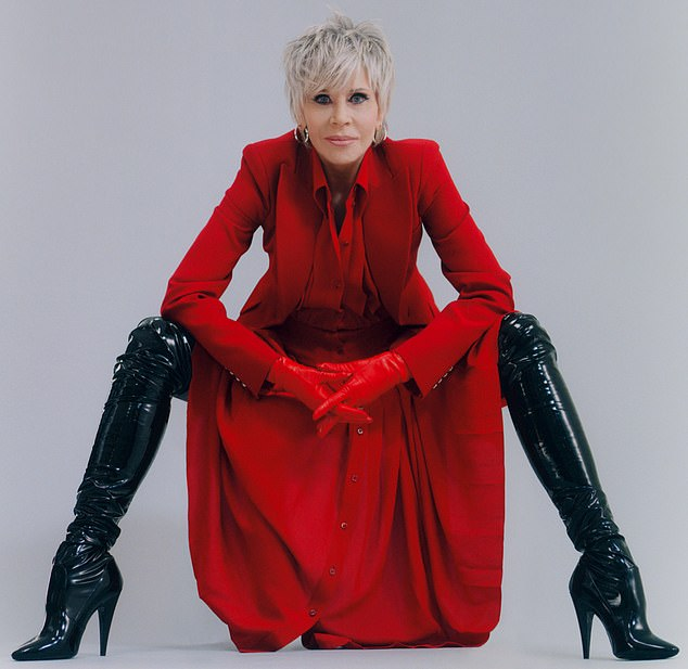 Jane Fonda rocks sky-high stiletto boots and power wardrobe in high-fashion shoot for Interview 4