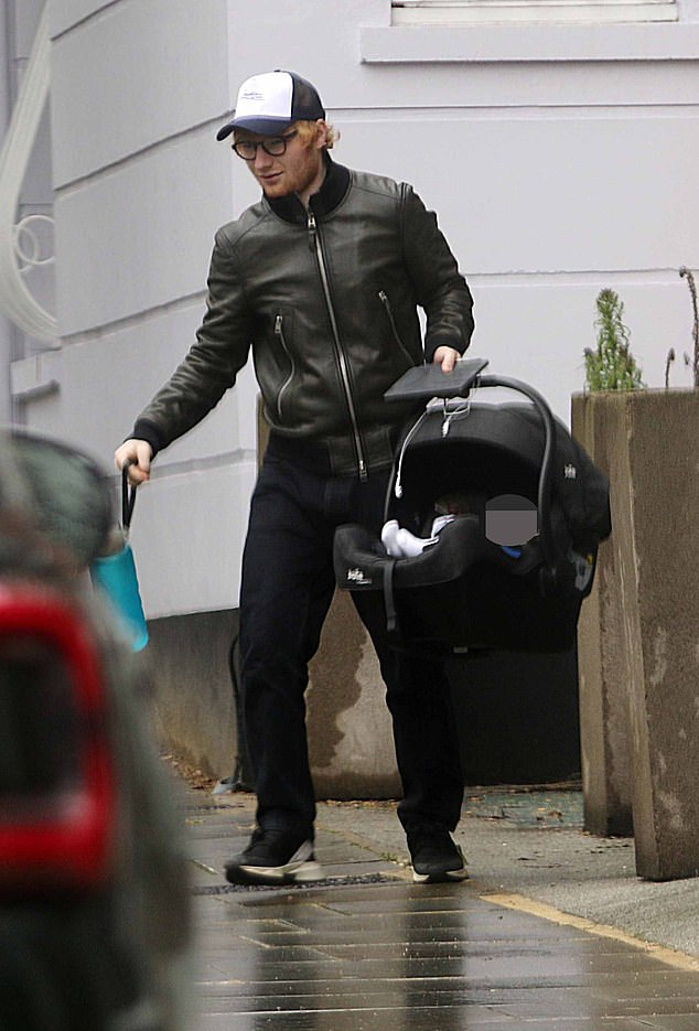Ed Sheeran PIC EXC: Singer is seen out with baby daughter Lyra Antarctica for the first time 6