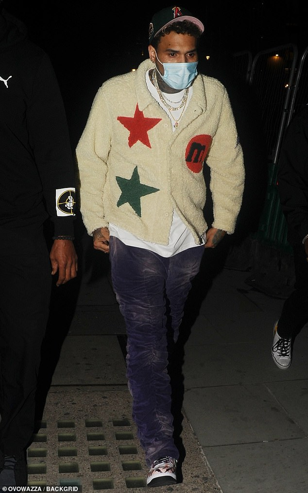 Chris Brown makes 'cloak and dagger' late-night visit to Adele's west London home 4