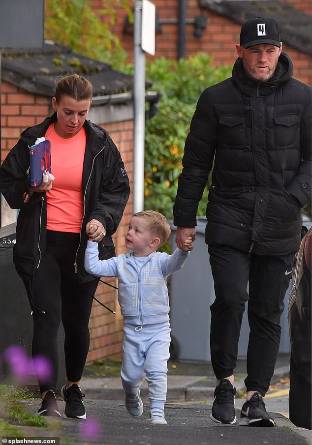 Coleen Rooney and husband Wayne take son Cass out for a spot of lunch 2