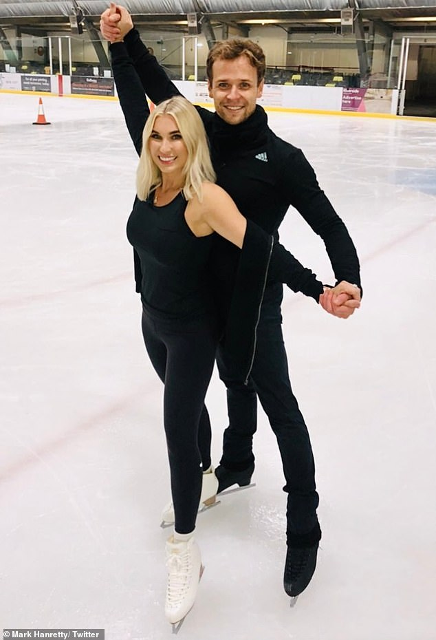 Billie Faiers showcases her ice skating prowess during first day of rehearsals for Dancing On Ice 6