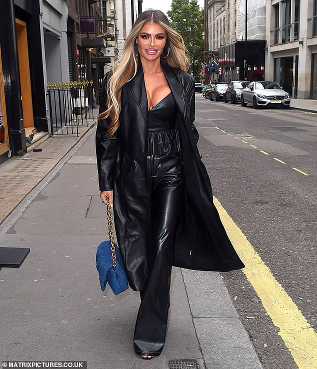 TOWIE's Chloe Sims flaunts her sensational figure in a plunging leather top 5