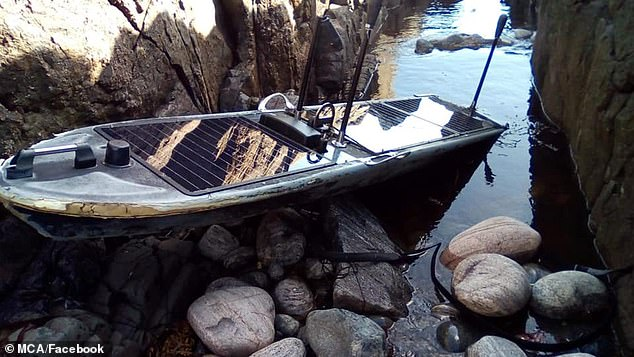 Unmanned 'spy ship' powered by solar energy and designed to avoid detection is found in Scotland 1