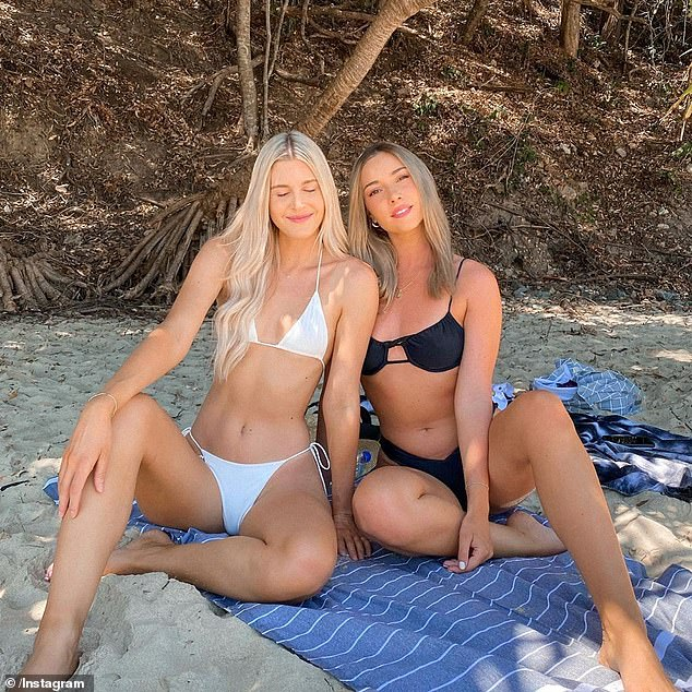 The Bachelor's Bec Cvilikas and Steph Harper strip down to their bikinis for beach day 6
