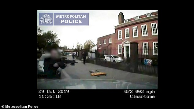 CCTV shows moment driver smashes into policeman in bid to avoid arrest 5