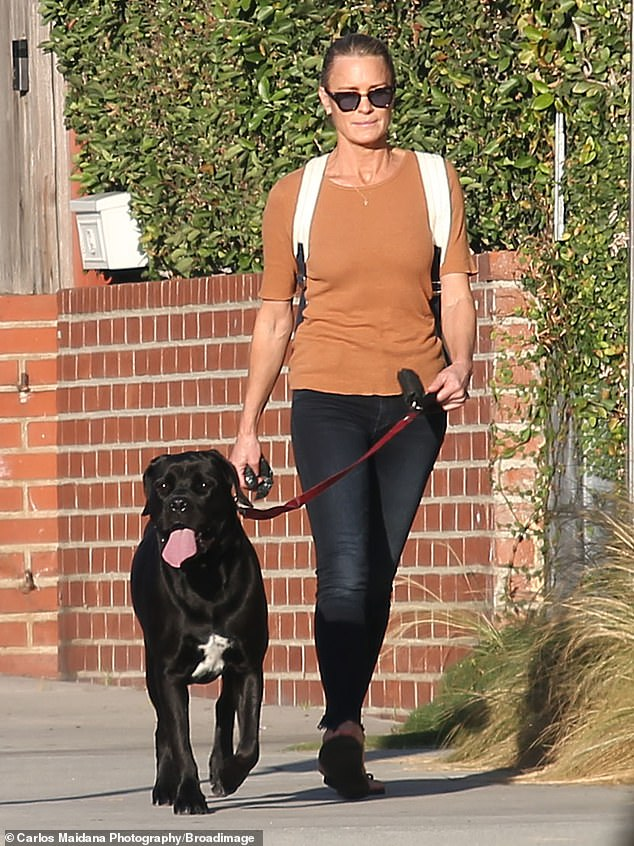 Robin Wright shows off her incredibly toned physique on a dog walk in Los Angeles 5