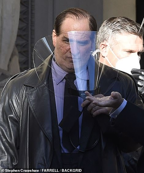Colin Farrell uses face shield as he joins Robert Pattinson for The Batman filming 1