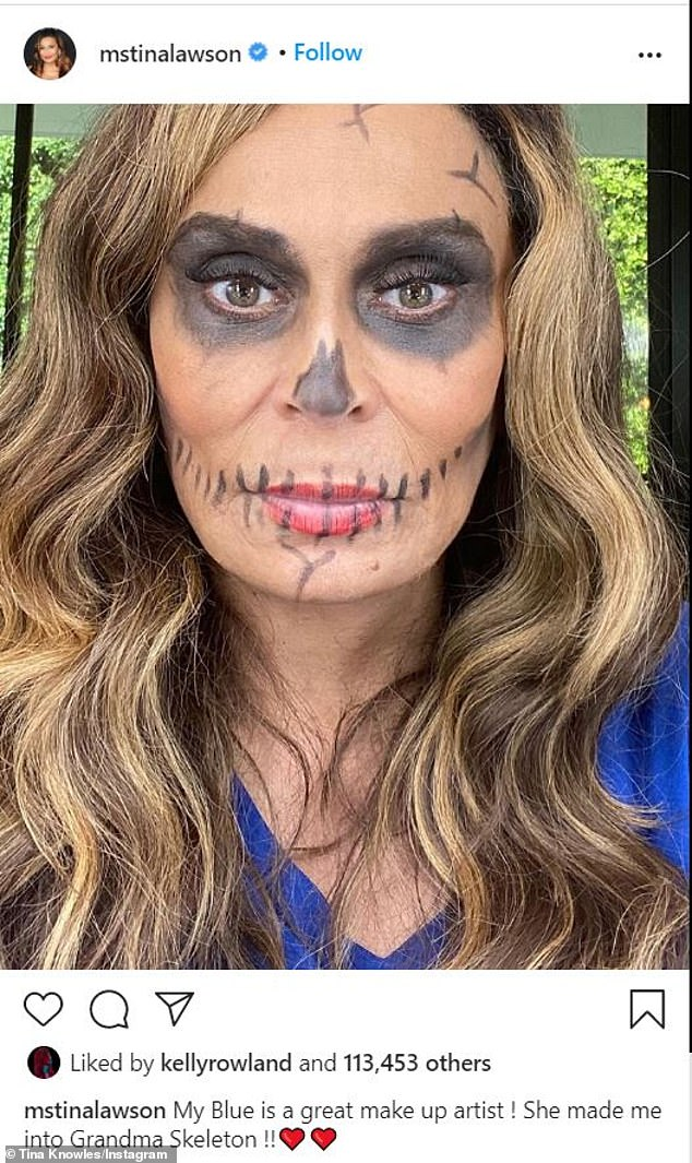 Beyonce's daughter Blue Ivy gives Tina Knowles a Halloween makeover 1
