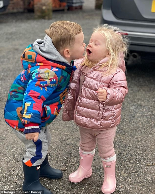 Coleen Rooney shares sweet photos of her son Cass blowing a kiss at a pal 4