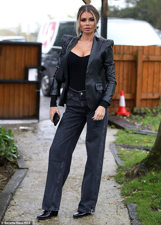 Chloe Sims brings glamour to the golf course as she films TOWIE scenes with Pete Wicks and the lads 9