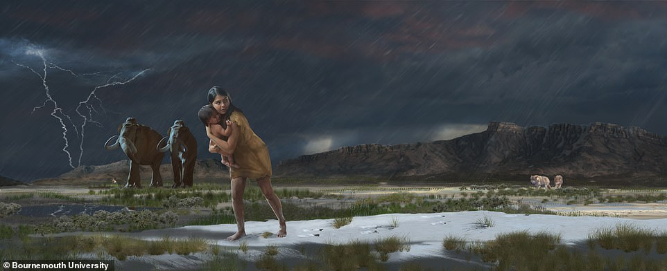 Fossilised footprints reveal a mother and child's treacherous journey 13,000 years ago 6