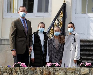 Queen Letizia and King Felipe VI of Spain visit Somao to present town with an award 8