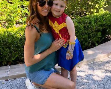 Girl power! Kyly Clarke celebrates Halloween early as daughter Kelsey Lee dons Wonder Woman costume 3