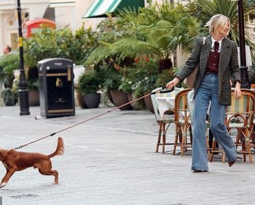TALK OF THE TOWN: Georgia Toffolo is dragged round London by her beloved Monty 4