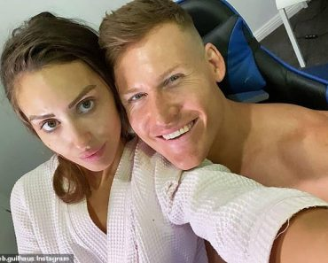 Loved up MAFS couple Lizzie Sobinoff and Seb Guilhaus celebrate their first year anniversary 3