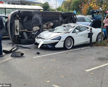 Expensive shopping trip! £150,000 McLaren supercar is written off after crash with Audi Q5 4