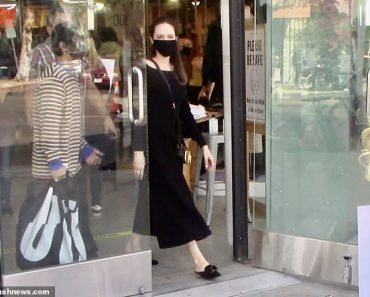 Angelina Jolie encounters an animal rights protest in West Hollywood while shopping with her son Pax 2