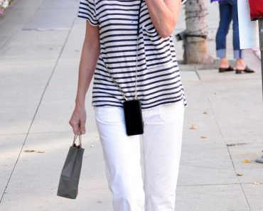 Sharon Stone is a star in stripes as she embraces a nautical vibe 7