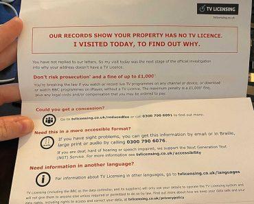 BBC sends elderly 'threatening' licence fee letters warning of fine 1