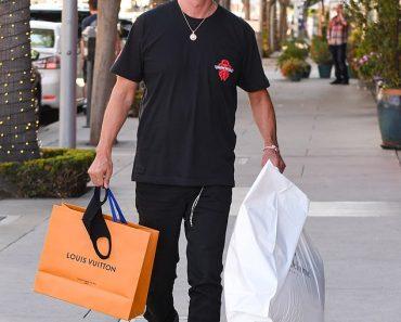 Kim Kardashian's friend Jonathan Cheban shops at Louis Vuitton in Beverly Hills before her birthday 6