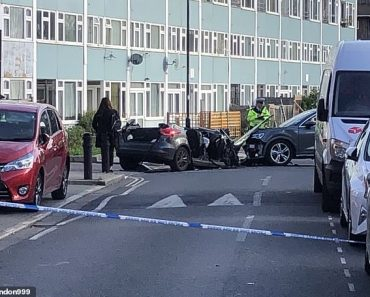 Driver in his 20s arrested for attempted murder after car crash in south London injured four police 5