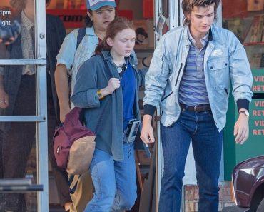 Stranger Things' Joe Keery, Maya Hawke, Gaten Matarazzo, and Sadie Sink film season four in Atlanta 2