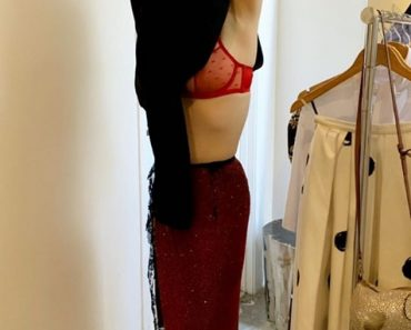 Kelly Osbourne continues to showcase her 85lb weight loss as she strips down to her red lace bra 6