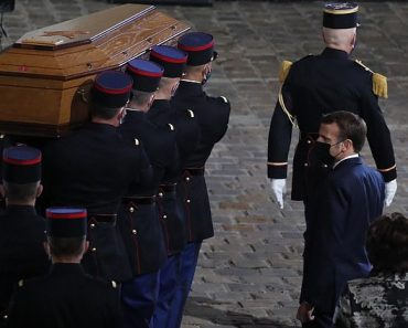 President Macron pays his respects to beheaded teacher Samuel Paty 3