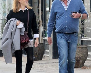 Jeremy Clarkson shares a laugh with a female pal at a posh organic grocers in London 3