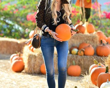 Selling Sunset's Christine Quinn is stylish in designer jacket and skinny jeans at pumpkin patch 4