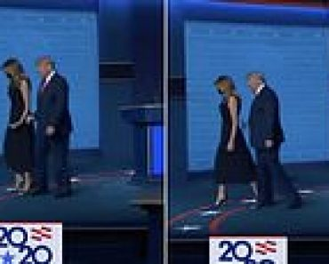 Twitter erupts as Melania appears to yank her hand away from Donald's at election debate 4