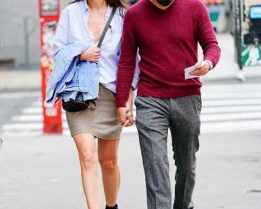 Katie Holmes, 41, holds hands with her beau of six weeks Emilio Vitolo Jr, 33, in NYC 6