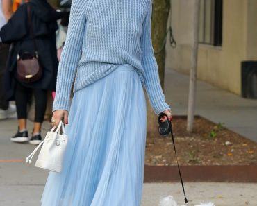 Olivia Palermo oozes elegance as she strolls with her dog Mr Butler in NYC 4