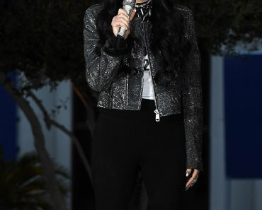 Cher commands attention in a glitzy jacket as she campaigns for Joe Biden and Kamala Harris 2