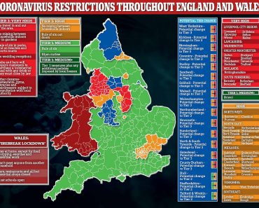 Tier Two lockdowns announced for 16 areas of England 6